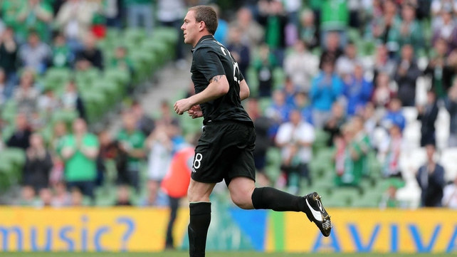 Richard Dunne got a taste for competitive action against Georgia