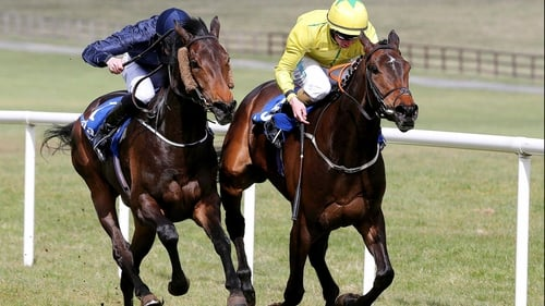 Talitha Kum (right) goes in the  Summer Family Day On 14th July Rated Race at Fairyhouse