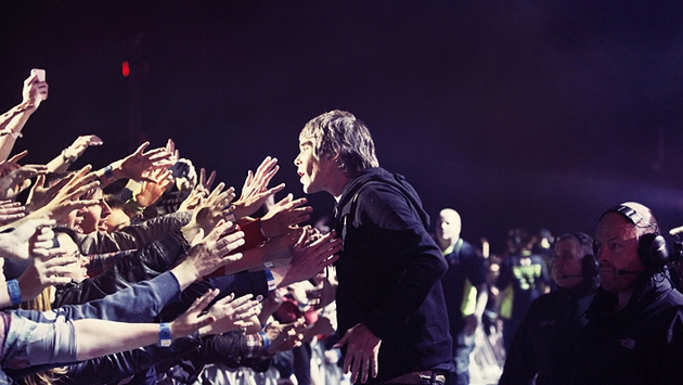 Ian Brown hits the front row ahead of The Stone Roses' gig at Heaton Park