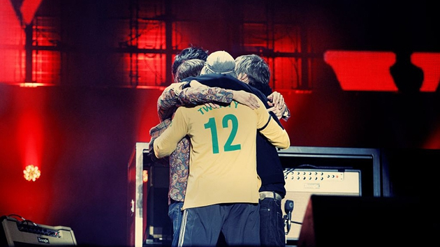The Stone Roses embrace