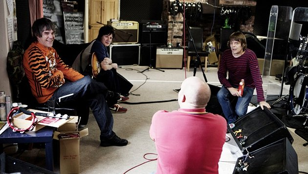 Shane Meadows with the band during rehearsals for their comeback tour