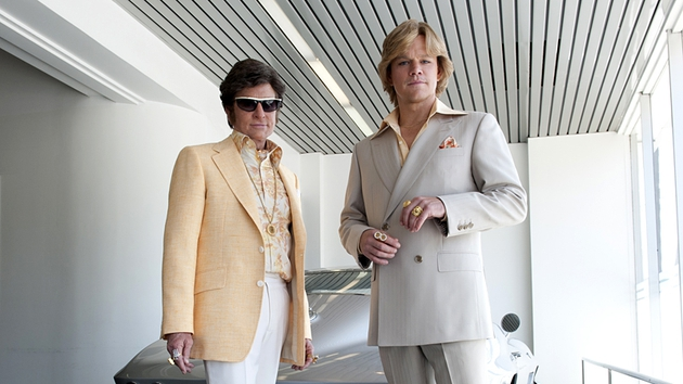 Michael Douglas and Matt Damon as Liberace and his lover, Scott Thorson