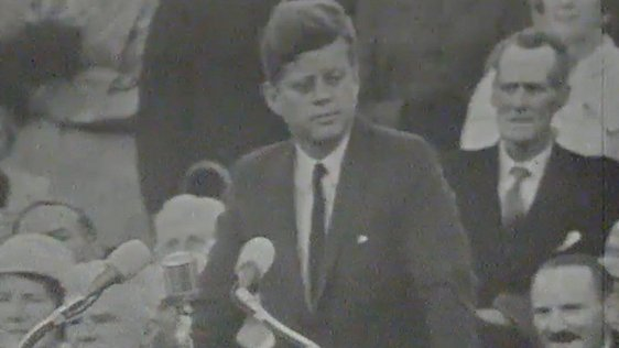 President Kennedy makes speech at New Ross, Co. Wexford, 1963