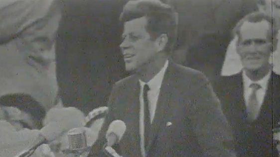 President Kennedy at New Ross, Co. Wexford on Day 2 of his visit to Ireland.