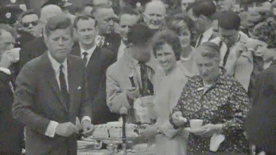 President Kennedy at Dunganstown tea party, 1963