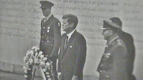 President Kennedy Lays Wreath at Arbour Hill