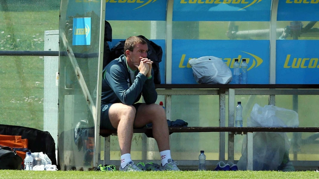Richard Dunne missed training with Ireland this morning