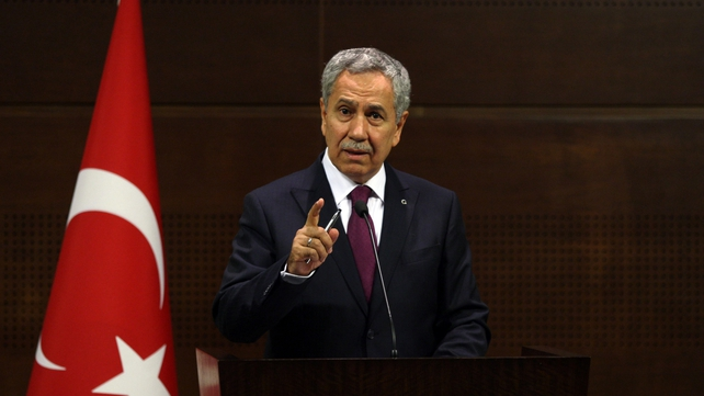 Bulent Arinc said the 'excessive use of force' was wrong