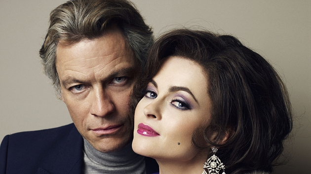 Dominic West and Helena Bonham-Carter as Burton and Taylor