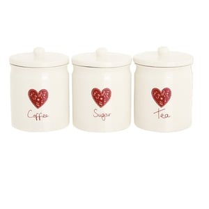 At Home With Ashley Thomas storage jars €13 each, available from Debenhams.