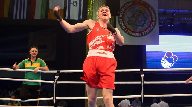 Jason Quigley, Finn Valley BC, Donegal, is in the medals