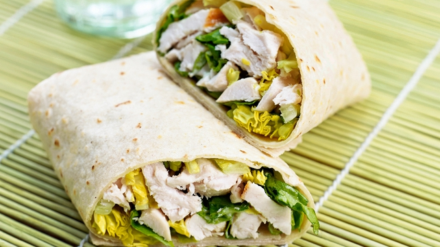 Chicken Caesar salad wrap