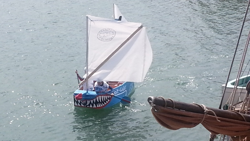 Winners of this year's Baltimore Wooden Boat Festival Race