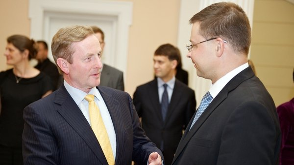 The Taoiseach met the Latvian Prime Minister Valdis Dombrovskis