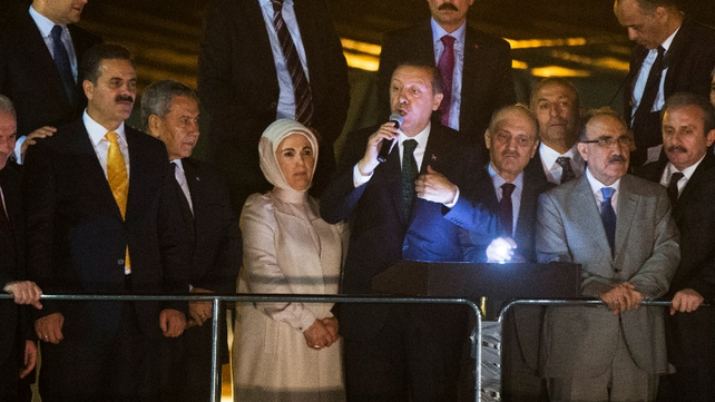 Recep Erdogan told supporters that terror groups were manipulating protests against him