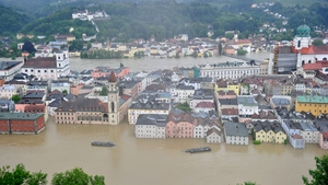 Passau city centre in Germany experiences widespread flooding