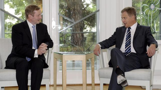 Taoiseach Enda Kenny met Finnish President Sauli Niinisto