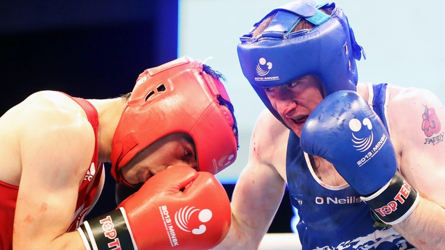 Despite a bloody nose, Paddy Barnes is through to the final