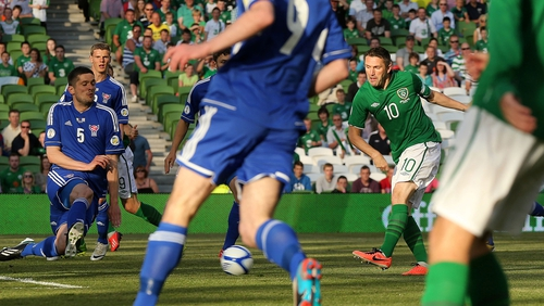 Robbie Keane's hat-trick was the highlight for Ireland on a night when  we failed to our stamp on the night.