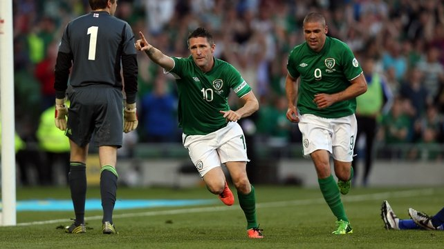 Robbie Keane scored a hat-trick on his 126th appearance