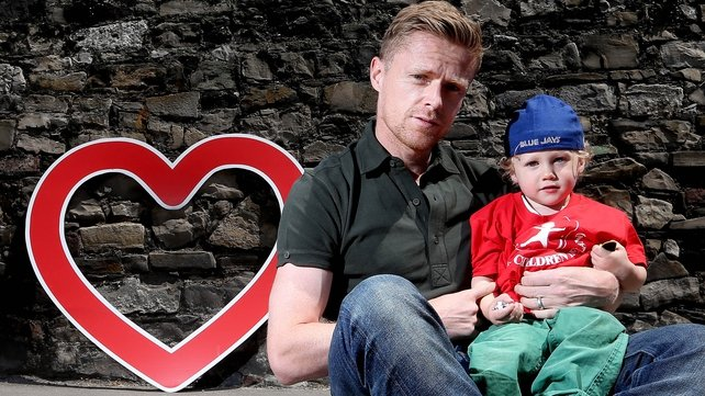 Heart Children Ireland ambassador Damien Duff with son Woody