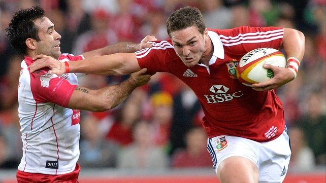 George North in determined mood
