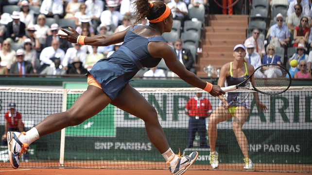 Serena Williams took the title in two sets in Paris