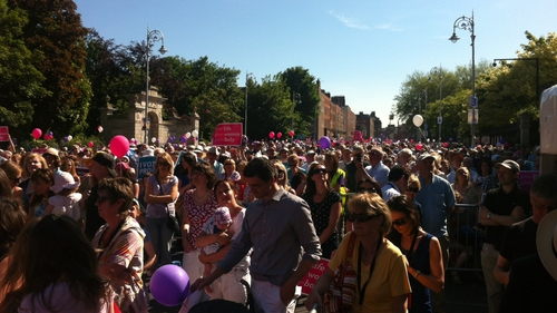 The 'Vigil for Life' rally took place at Dublin's Merrion Square