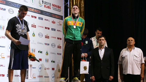 Hugh was there to see Jason Quigley (pictured) and John Joe Nevin win gold