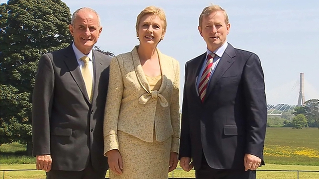 Former President Mary McAleese, her husband Martin, and Taoiseach Enda Kenny attended the ceremony