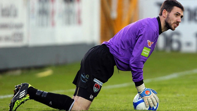 Cork will be without the services of goalkeeper Mark McNulty for today's visit of Shamrock Rovers