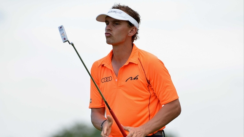 Joost Luiten in action during the final round en route to securing the Lyoness Open title