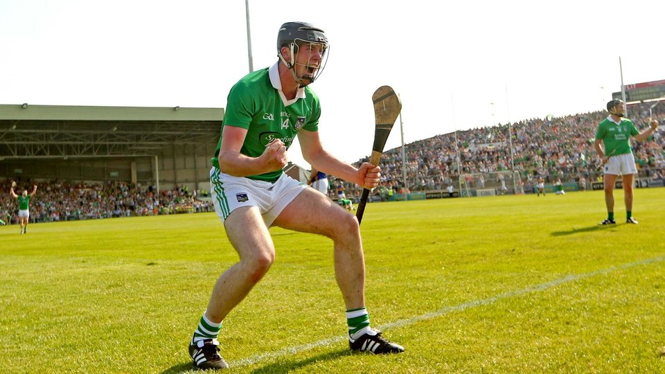 Declan Hannon celebrates a famous win for the Treaty County