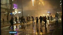 Turkish riot police fire tear gas and water cannon