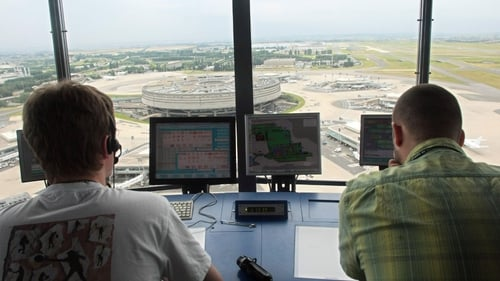 Air-traffic controllers are protesting over plans to create a single European airspace