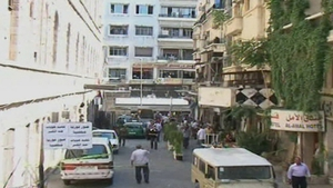 Two bombs exploded in a central Damascus square