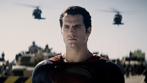Henry Cavill looks pensive as Superman prepares for battle
