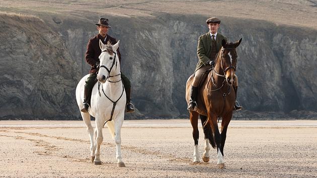 Best friends, AJ Munning (Dominic Cooper) and Gilbert Evans (Dan Stevens)