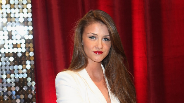 Brooke Vincent has denied having a row with her co-star Michelle Keegan