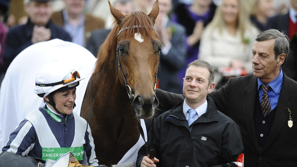 A man for all seasons - Henry Cecil with Plato, winner of the St Patrick's Day Derby in 2011, an event which aptly raised funds for Cancer Research UK
