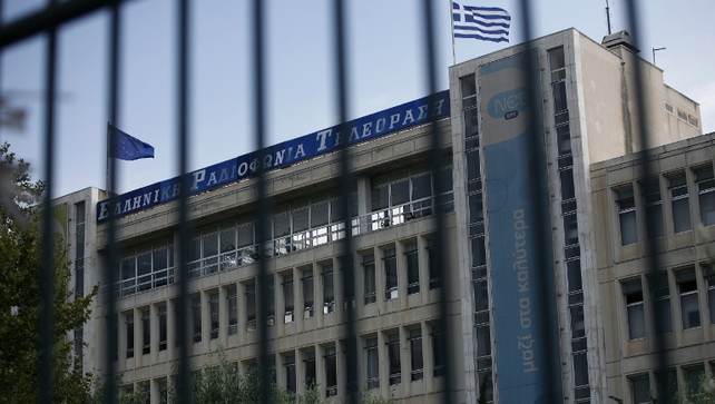 A Greek government spokesman said TV and radio signals will go dead tomorrow while employees vow to keep it on air