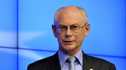 Herman Van Rompuy was speaking at Enterprise Ireland's Euro Zone Summit in Dublin today