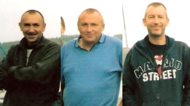 The bodies of Shane, Paul and Kenny Bolger were recovered from Tramore Bay