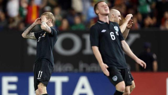 Ireland were beaten 2-0 by Spain in Yankee Stadium