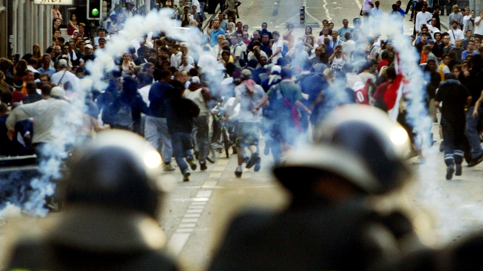 The 2003 summit in Evian, France was accompanied by protests in the neighbouring Swiss city of Geneva