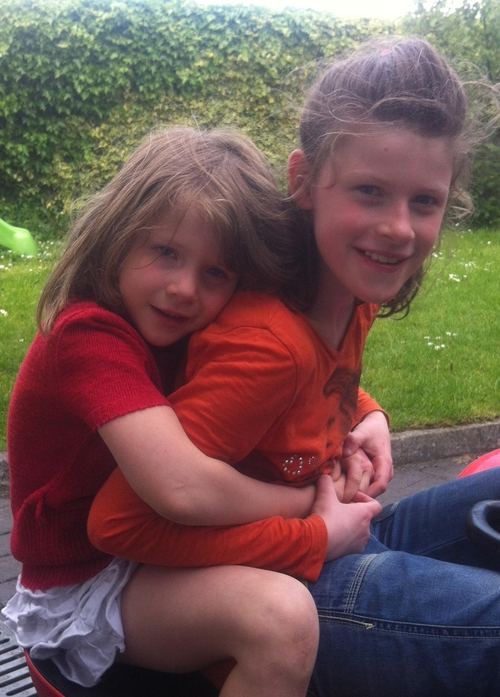 Clara and her little sister Abaigh