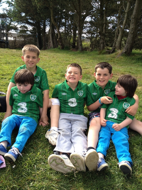 Aisling's boys: Ross, Luke, Calum, Ethan and Zac