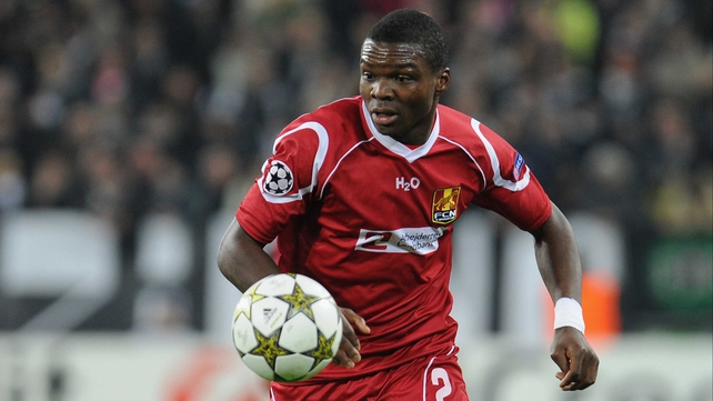 Jores Okore in action for FC Nordsjaelland