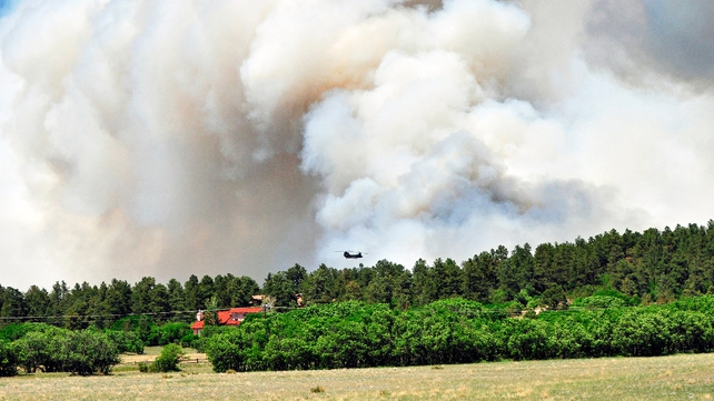 The blaze has spread across over 6,200 hectares of forested terrain