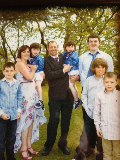 Aisling and Frank Cullen with their sons: Ethan, Luke, Zach, Aaron, Ross and Calum